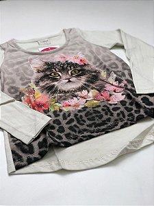 Camiseta Manga Longa Gatinha Feminina Sublimada 4/10