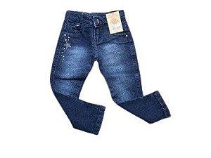 Calça Jeans Com Detalhes de Estrelinha 1/3