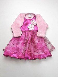Vestido + Casaquinho Floral P/G