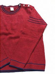 Blusa de Linha Juvenil Vermelha Com Listra 4/12