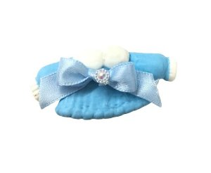 Lembrancinha Roupinha Azul Em Biscuit (10 unidades)