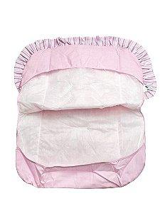 Capa De Bebê Conforto Rosa Listrado