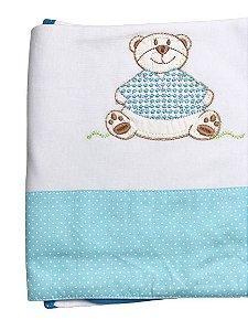 Cueiro Azul Bebê Suedine 70X90cm