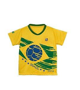 Camiseta Brasil Unissex de Time Oficial Santos Tam 6