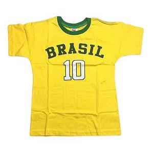 Camiseta do Brasil 10 Tam 8/16