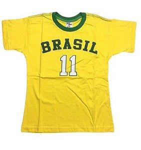 Camiseta do Brasil 11 - Tam 8/14
