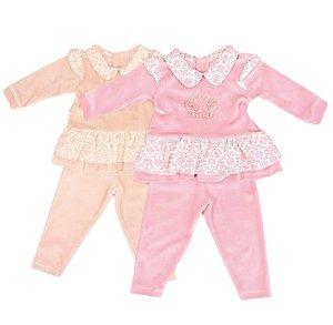 Conjunto Feminino Plush Coroa Bebê P/GG