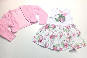 Vestido + Casaco Infantil Tam 3