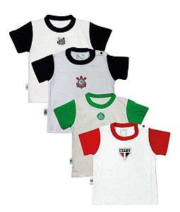 Camiseta Manga Curta de Time Unissex P/G 1/3