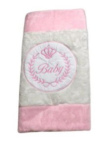 Tapete Infantil Baby Coroa Rosa