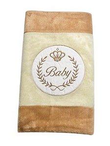 Tapete Infantil Baby Coroa Bege/Marrom