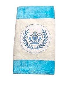 Tapete Infantil Coroa Azul/Branco