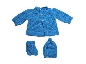 Kit Casaco, Touca e Sapatinho Lã