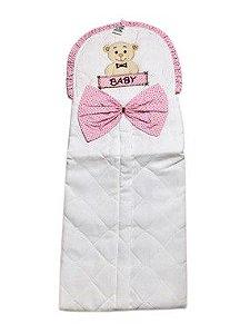 Porta Fraldas Ursa Baby Rosa