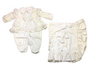 Saída de Maternidade de Malha Ma - 2 Peças