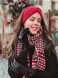 Faixa de cabelo tricot entrelaçada