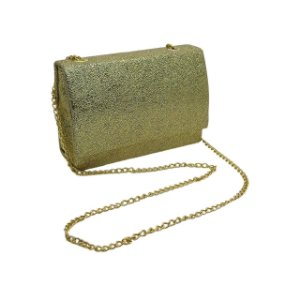 Bolsa tira colo quadrada com alça metal
