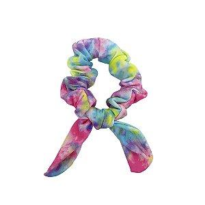 Laço Scrunchies estampa Tie Dye