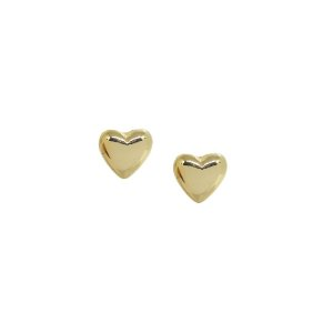 Brinco base coração dourado
