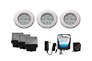 Kit de Iluminação Pooltec Para Piscinas de Até 30 Mts² - SMD 12 ABS