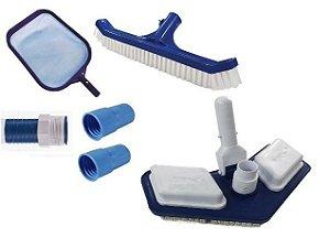 Kit de limpeza SUPER para piscinas -Pooltec