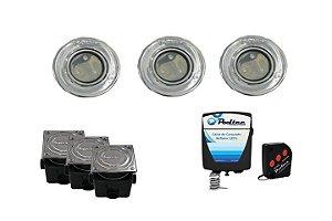 Kit de Iluminação Pooltec Para Piscinas de Até 42 Mts² - SUPER LED 3 EM INOX