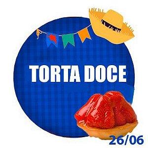 TORTA DOCE - RETIRADA SOMENTE NO DIA DA FESTA COM HORÁRIO PREVIAMENTE AGENDADO 26DE JUNHO
