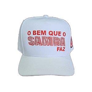 Boné - O Bem que o Samba Faz - Branco