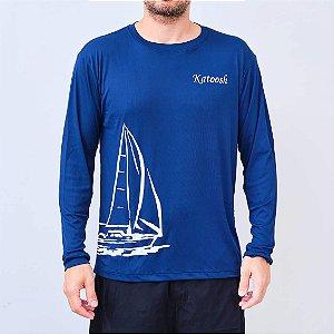 Camisa UV manga longa - AZUL