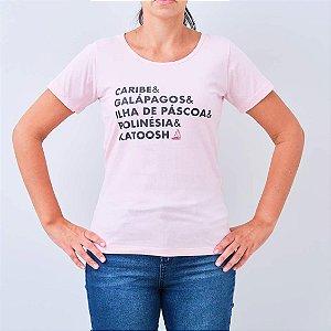 Camiseta feminina - LUGARES