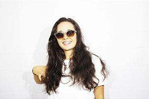 Óculos de sol Feminino - lente Degradê nude