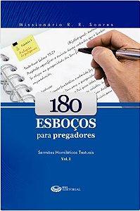 Livro 180 Esboços para Pregadores Vol. 1 - R. R. Soares