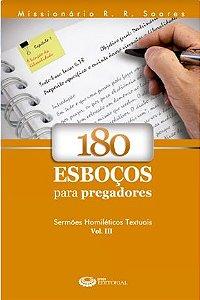 Livro 180 Esboços para Pregadores Vol. 3 - R. R. Soares