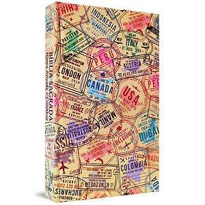 Bíblia com Harpa capa dura - Passaporte