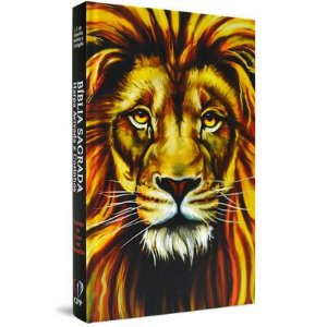 Bíblia com Harpa capa dura - Leão Colorido