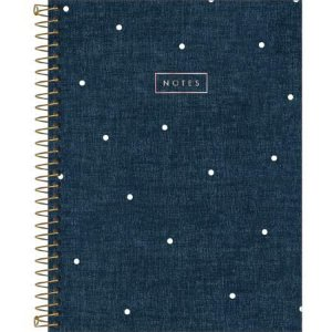 CADERNO EXECUTIVO ESPIRAL CAPA DURA COLEGIAL CAMBRIDGE DENIM 80 FOLHAS