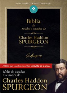 Bíblia De Estudos E Sermões De Charles Spurgeon Luxo Preta - NVT