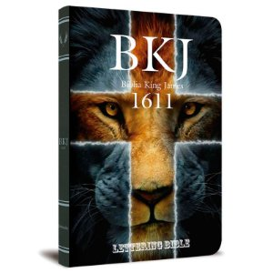 Bíblia BKJ 1611 Ultra Fina Lettering Bible (Leão)