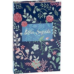 Bíblia Sagrada para Evangelismo Floral | ARC | Letra Normal | Capa Dura