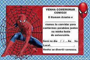 12 Convites Homem Aranha cod.04