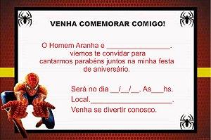 12 CONVITES HOMEM ARANHA COD.18
