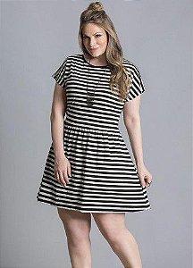 Vestido Listrado Plus size