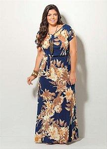 Vestido Longo Maxi Floral Plus Size