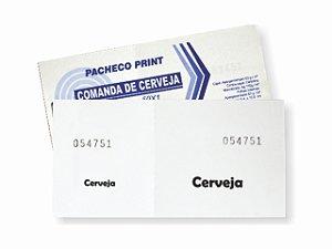 IMPRESSO FICHA DE BAR CERVEJA 50 FLS R.264 || PCT-C/20