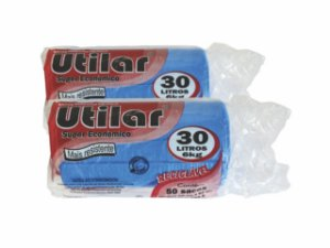 SACO P/ LIXO UTILAR  30 LITROS AZUL