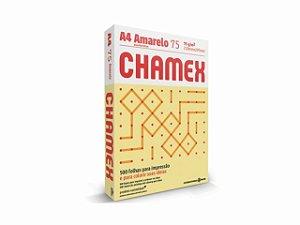 PAPEL CHAMEX A4 COLORS 75GRS 500FLS AMARELO || PCT UNID