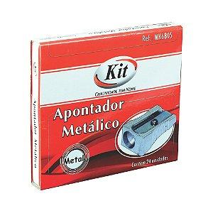 APONTADOR ESCOLAR  METALICO IMPORTADO MK-6805 || CAIXA C/24