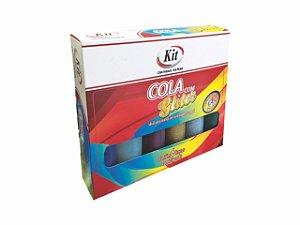COLA C/BRILHO 25GRS 6 CORES SORTIDO || CAIXA UNID
