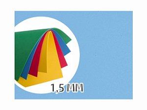 BORRACHA EVA 40X48X1.5MM AZUL CLARO EVA-049 || PCT C/10