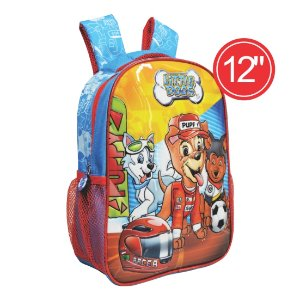 "MOCHILA INFANTIL KIT LITTLE DOGS M 12"" 17104B | ATACADO-IND UNID"